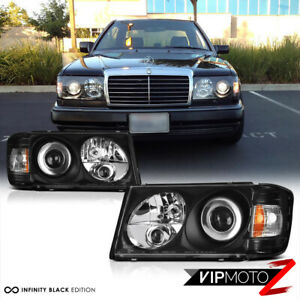 86-93 W124 Black  Projector Headlight M-BENZ E-CLASS 300E Headlamp Assembly