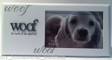 "Puppy Dog Pet Photo Frame ""Woof : So Cute & So Spoiled"" Writing - Great Quality"