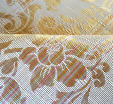 """56"""" GOLD BROCADE HEAVY UPHOLSTERY FABRIC FRENCH DAMASK PASTEL STRIPE BY THE YARD"""