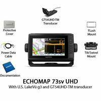 Garmin ECHOMAP UHD 73sv Chartplotter/Fishfinder with GT54UHD-TM 010-02338-01