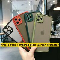 Full Protective CASE For iPhone 11 Pro MAX XR 7 8 SE2020+2Pack Screen Protector