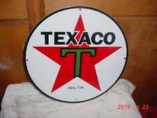15 inch Texaco Porcelain Gasoline sign
