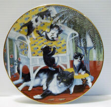 "Hamilton Collection Kittens/Cats Country Kitties ""Just for the Fern of It"" '88"