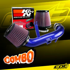 08-13 Lancer 2.0L 4cyl Non-Turbo Blue Cold Air Intake + K&N Air Filter