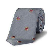 NEW Paul Smith Men's Mini Grapefruit Pattern Narrow Silk Tie Made In England