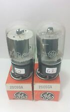 2 Date Matching GE 25C6 GA Vacuum Tubes Tested Good On Calibrated TV - 7 !!