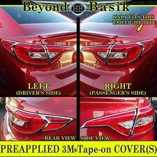 For 2015-2017 Hyundai SONATA Triple Chrome Taillight Covers Bezel Trims Overlays