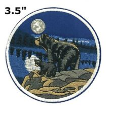 Bears Moon Embroidered Patch Iron-On Souvenir Travel Explore National Parks