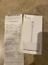 Apple USB-C to VGA Multiport Adapter MJ1L2AM/A, A1620 With Receipt. New Sealed.
