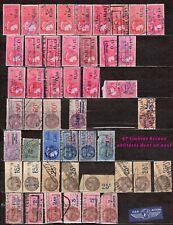 Lot 47 timbres fiscaux oblitérés FRANCE à étudier