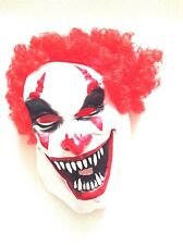 Scary Clown Face Mask Red