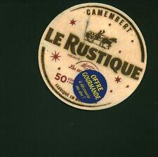 Etiquette de fromage camembert le Rustique - Bois   N° 367