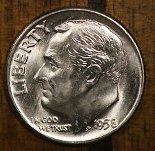 1958 P Roosevelt Dime CH BU LUSTER! 90% Silver US Coin