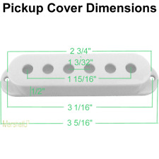 GuitarBoyZ™ Strat Single Coil Pickup Covers - White (3)