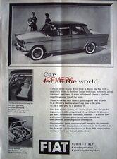 FIAT '1800' Saloon 1960 Motor Car ADVERT - Original Auto Photo Print AD