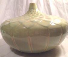 Oak Express Green Splatter Lotus Vase Wide C1 Bedroom Expressions