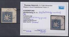 Altd. Württemberg 1861 Nr. 20y gestempelt geprüft mit Befund 2800,- Mi #328