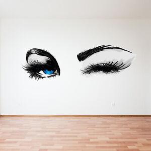 Woman Eye Wall Sticker Art Lash Face Girl Eyelash Decoration Beauty Salon Decals