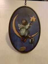 Via Vermont Art Catcher Cherub Painting Star Glass Oval Angel by Enesco 1995