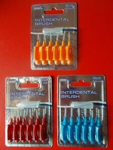 INTERDENTAL BRUSH - CHOICE OF 6 x 0.45mm, 6 x 0.5mm, 6 x 0.6mm