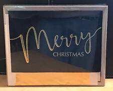 Holiday Luxury Favorites / Merry Christmas /Boxed 18 Cards, Gold,Foil letters