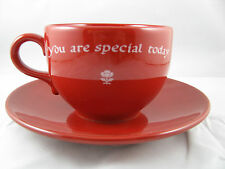 """""""You Are Special Today"""" Jumbo Cup/Saucer Waechtersbach German Stoneware"""