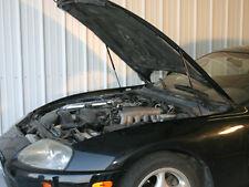 1993-98 Toyota Supra Hood Quick LIFT PLUS ALL BLACK Gas Strut Shock Damper Prop