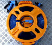 15 METRE FOOD GRADE WATER FLAT HOSE ON REEL MOTORHOME CARAVAN BOAT RV HOMEBREW