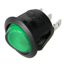 _ Wippschalter rund - Grün beleuchtet - EIN-AUS 125V 250V Mini-Schalter 230V