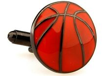 Orange Basketball Sports Cufflinks Wedding Gift bball ball