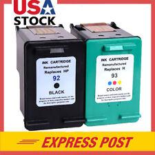 2PK For HP 92 93 Ink Cartridges Deskjet 4155 4160 5420 5420v Photosmart C3135