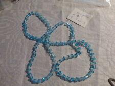 lot de 100 superbe perle en cristal ancienne cone toupie turquoise transparent