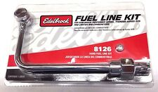 Edelbrock 8126 GENUINE Carb Single Feed Fuel Line Kit, 3/8in Hose Barb Inlet