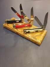 Red Oak 3 Knife Magnetic Display Stand