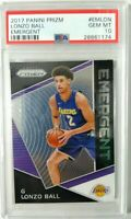 2017 Panini Prizm Prizm Emergent #emlon Lonzo Ball Lakers PSA 10 Gem Mint RC hot