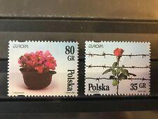 Poland 1994 Europa. Peace & Freedom. Flowers. Flora. Roses Mi3533-34 SC3234-35