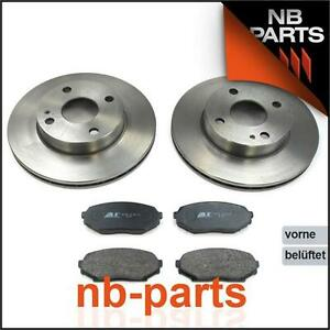 Brake Discs 235mm Vented + Brake Pads Front Mazda MX-5 I Well 1.6 Without ABS