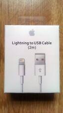 100% 2M Original Genuino Oficial iPhone 8 7 6S+ 5S Lightning Cargador Cable Usb