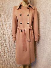 Laurel 70% alpaca 30% wool tan brown belted long coat size 38