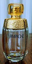 UNIQUE EMPTY RARE CHAMPAGNE YVES SAINT LAURENT 50ml perfume bottle for COLLECTOR