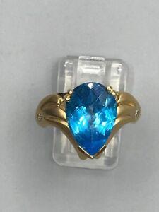 18ct Gold Blue Topaz Ring