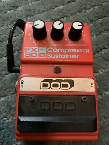 Dod FX-80b Compressor Sustainer Guitar Effects Pedal With instructions Vintage