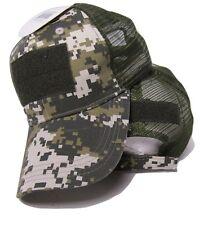 ACU Camo Digital Mesh Operator Operators Tactical Cap Hat Patch adjustable strap