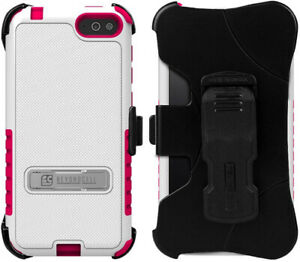 WHITE PINK TRI-SHIELD KOMBO CASE BELT CLIP HOLSTER STAND FOR AMAZON FIRE PHONE