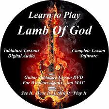 Lamb Of God Guitar TAB Tablature Lesson CD 79 Songs + Backing Tracks + BONUS!