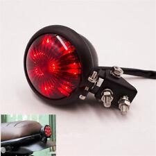 12V Red Motorcycle LED Tail Light Stop Brake Lamp for Cafe Racer Chopper Bobber