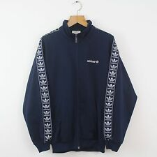 Vintage 80s ADIDAS Blue Tracksuit Top Jacket | Retro Original Trefoil | Large L