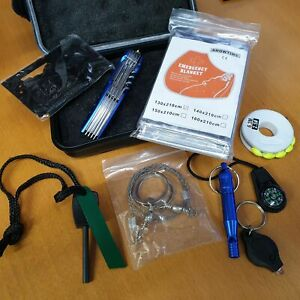 EDC Survival Kit Camping Backpacking Outdoor in Durable Case