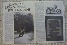 1973 KAWASAKI 350 S2 STREET MACHINE Motorcycle  Road Test Article