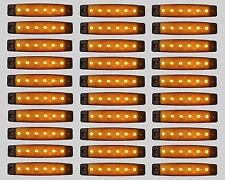 30 X SEGNALATORE LUCE INGOMBRO 6 LED SMD 12V 12VOLT ARANCIO CAMION RIMORCHI
